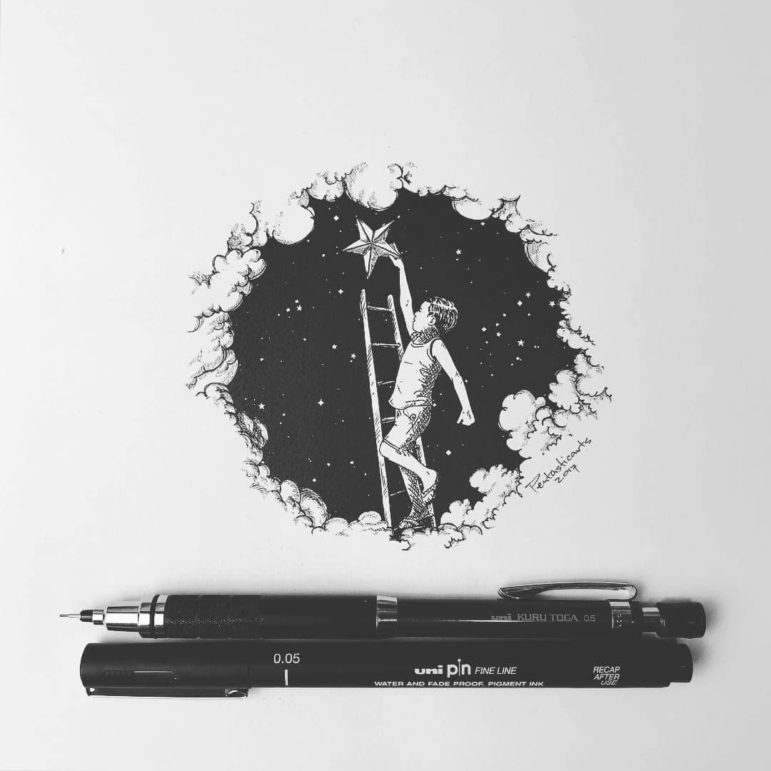 10-Climb-Joseph-Catimbang-Black-and-white-Ink-Graphic-Design-Art-www-designstack-co