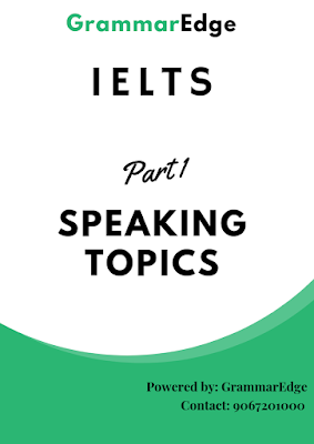Recent IELTS Speaking Topics PDF