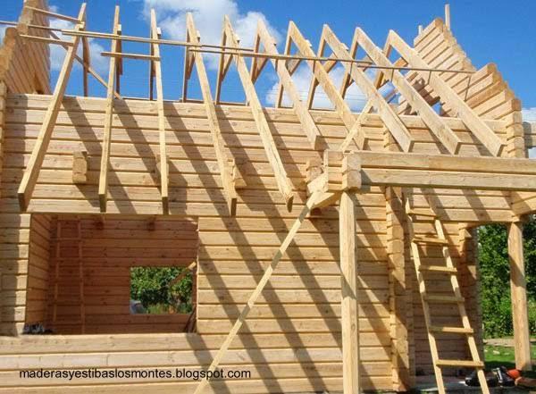 casas de madera de troncos redondos