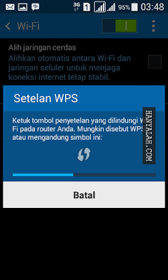 Cara Setting WPS Wifi Connection