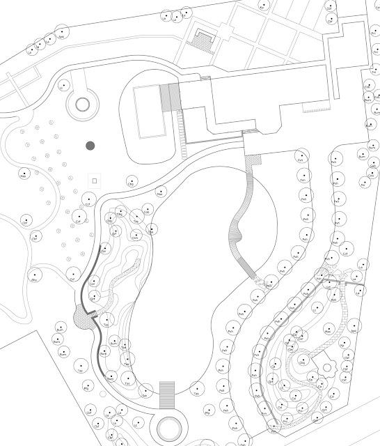 Schema tehnica plan amenajare gradina amplasare arbori arhitect peisagist alexandru gheorghe