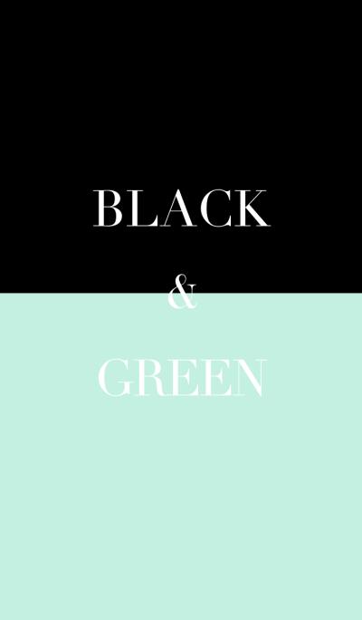 black & green .