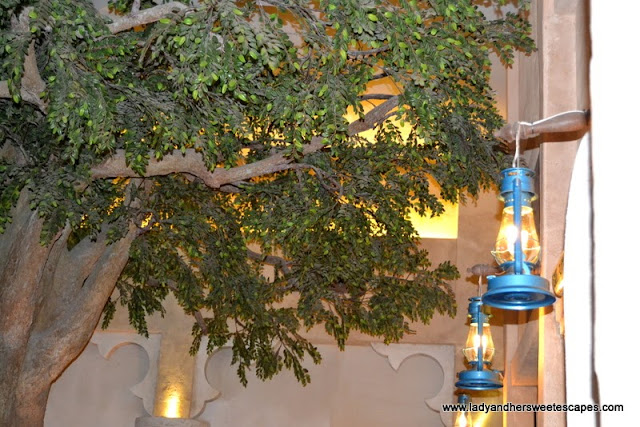 A tree inside Al Fanar restaurant, Dubai Festival City