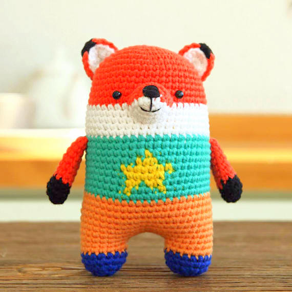 Crochet Fox PATTERN Amigurumi tutorial BIG Softy toy Fox pattern ... | 570x570