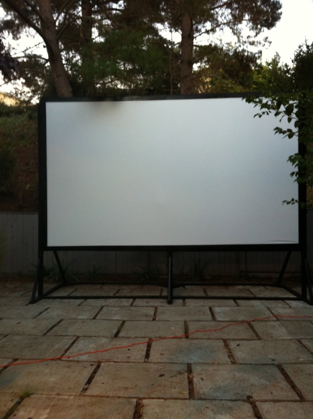 blue is the new neutral outdoor movie night. Black Bedroom Furniture Sets. Home Design Ideas