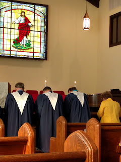 choir at communion st john's fort mill