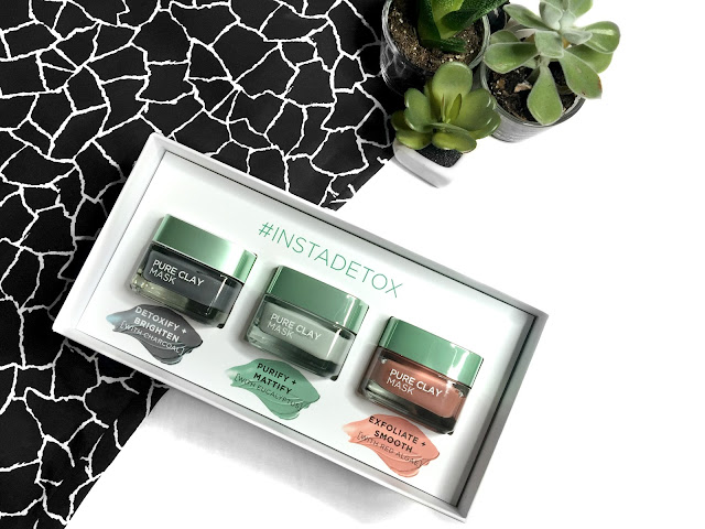 REVIEW: L'Oreal Paris Real Clay Charcoal, Eucalyptus & Algae Masks