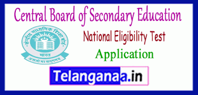 CBSE NET Central Board of Secondary Education National Eligibility Test Application