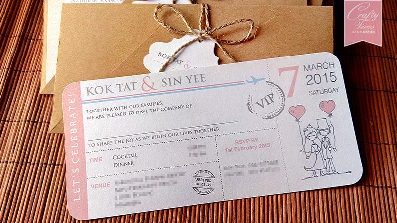 Wedding Card Malaysia Crafty Farms Handmade Pink And Blue Rustic