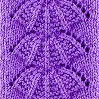 Parasol Lace sttich, lovely stitch pattern, very easy to memorize and a wonderful result.