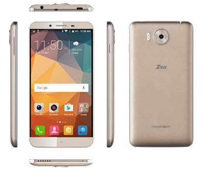 Symphony ZII (2GB RAM) full specifications