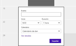 Calendario Outlook.com