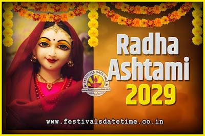 2029 Radha Astami Pooja Date and Time, 2029 Radha Astami Calendar