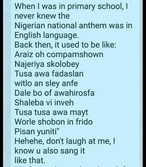 The Nigerian National Anthem Naija Google Blogger