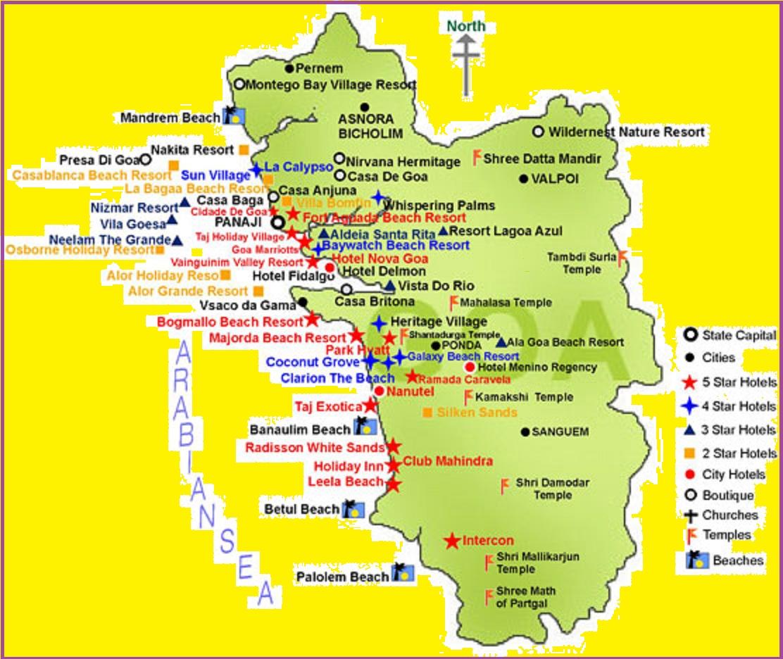 Goa Tourist Map GOA TOURISM MAP   TOURIST ATTRACTIONS IN GOA   GOA TOURIST MAP  Goa Tourist Map