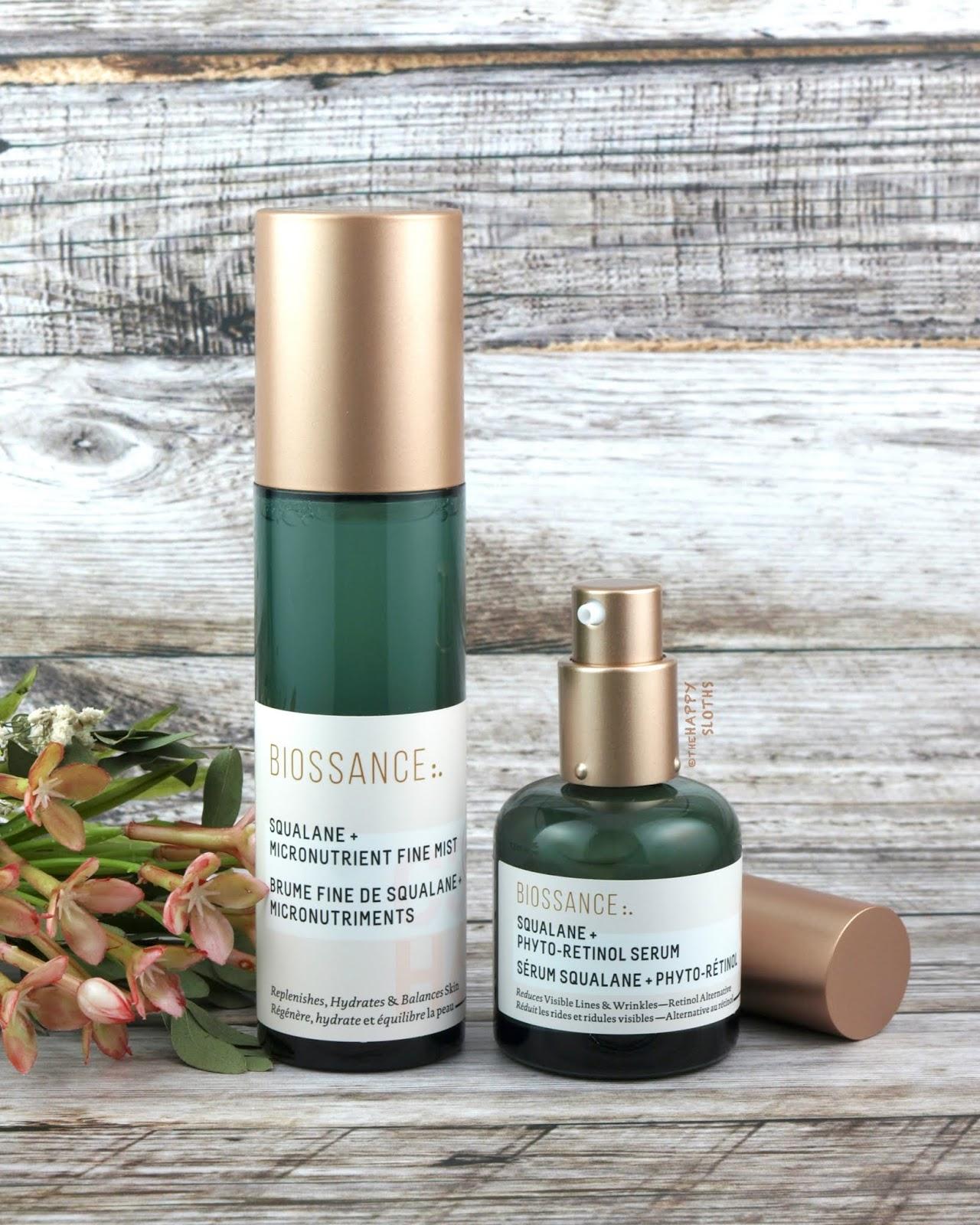 Biossance | Squalane + Micronutrient Fine Mist & Squalane + Phyto-Retinol Serum: Review