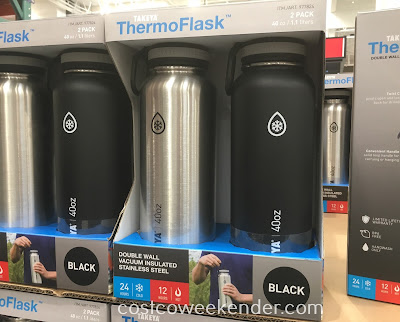 The Takeya ThermoFlask Water Bottle is great for hiking, traveling, and if you're on the go