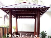 Gazebo Kayu Glugu Jepara Desain Minimalis