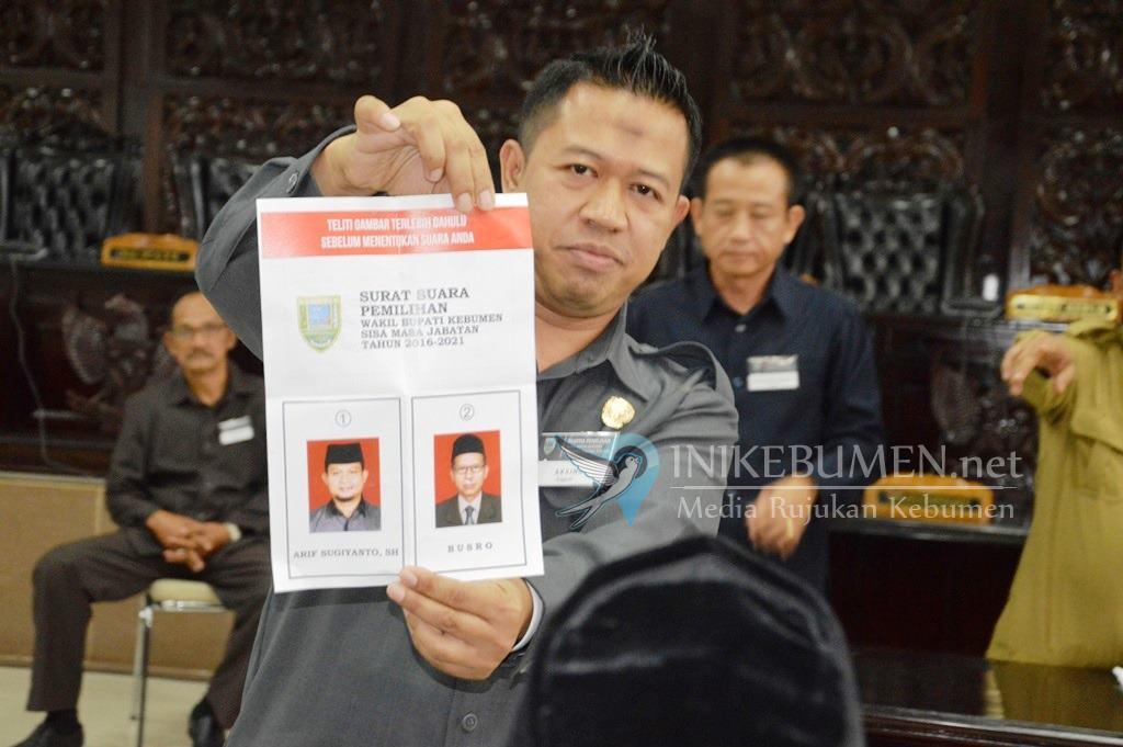 Menang Telak, Arif Sugiyanto Terpilih Sebagai Wakil Bupati Kebumen