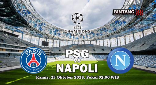 Prediksi Paris Saint Germain vs Napoli 25 Oktober 2018