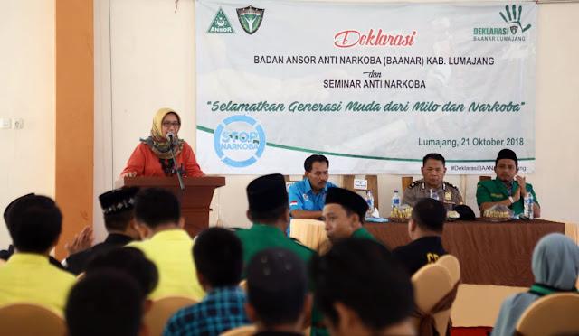 Deklarasi Badan Anshor Anti Narkoba (BAANAR) Kabupaten Lumajang