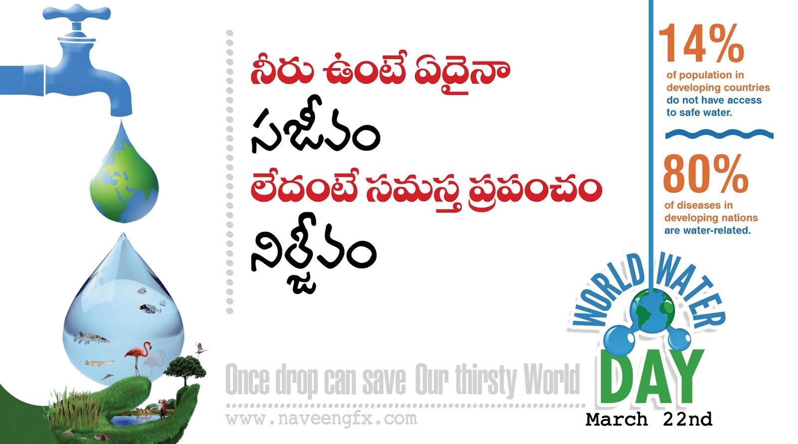 slogans on water pollution on world