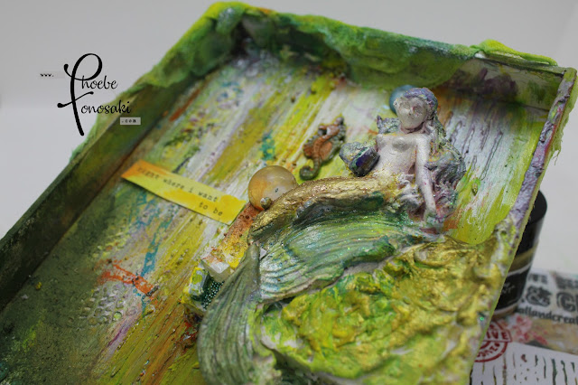 Mixed Media Mermaid by Phoebe Tonosaki