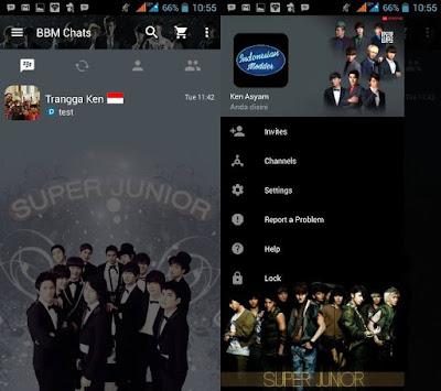 BBM MOD Artis Korea Full Transparan APK V3.2.0.6  Terbaru