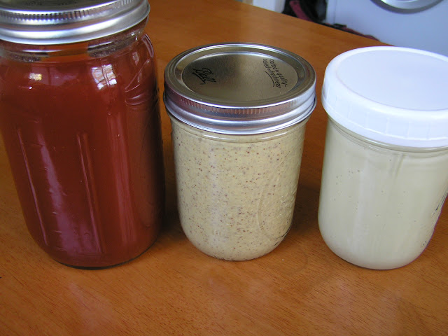 lacto-fermented ketchup, mustard, and mayonnaise