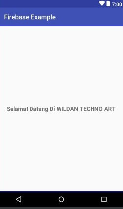 WildanTechnoArt-Design Main Menu Layout - Firebase Autentikasi