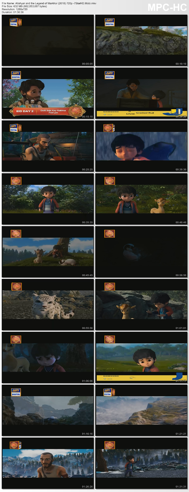 Allahyar and the Legend of Markhor (2018) Hindi 720p DTHRip x264 600MB 2