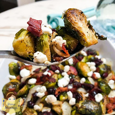 Cranberry Maple Bacon Brussels Sprouts_menumusings.com