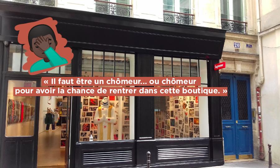 La marque de fabrique de Supreme c est sa communication. Par exemple, en  2012, des affiches, où on voit Kate Moss poser avec un chandail de la marque,  ... cefd0a950e7