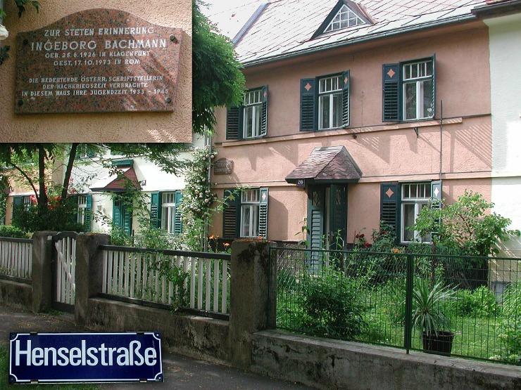 Henselstrasse, Ingeborg Bachmann: © Dreinagel, 22. Juni 2006, unterliegt der GNU Free Documentation License.