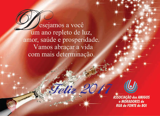O Blog agradece e retribui os votos de Boas Festas da Associação de Moradores da Rua Fonte do Boi