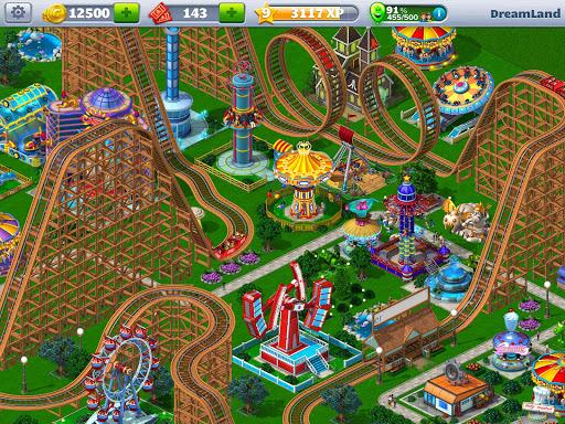 لعبة roller coaster tycoon 4 مهكرة