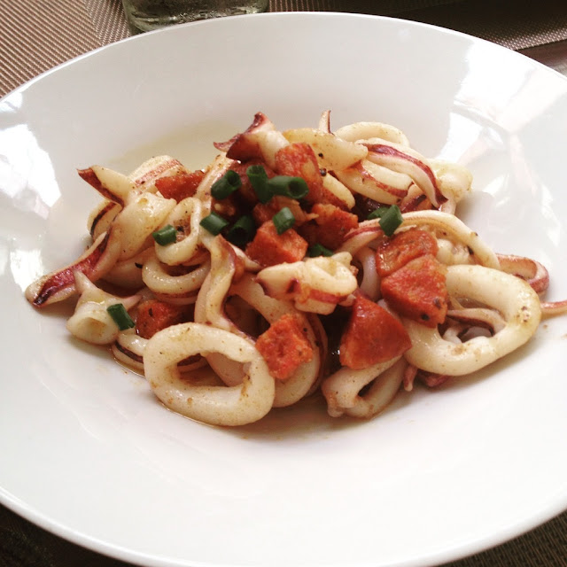 Chorizo sauteed squid at Acacia Steakhouse