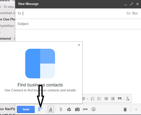 clearbit connect icon in gmail