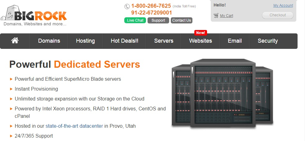 Dedicated server india prices y