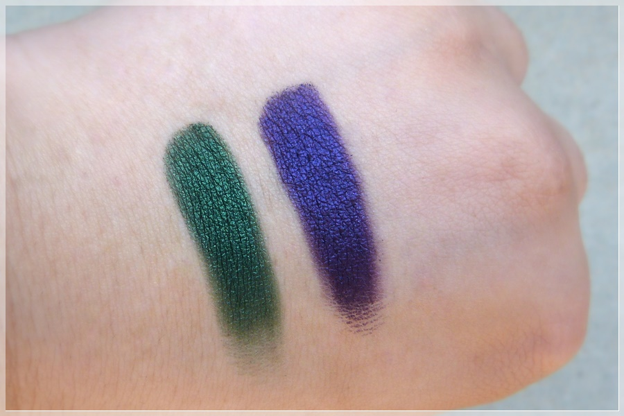 Swatches Scarabeo Eye Shadows 020 und 040