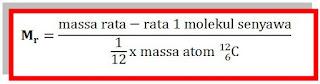 definisi massa molekul relatif