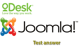 oDesk joomla 1.5 test answers 2013