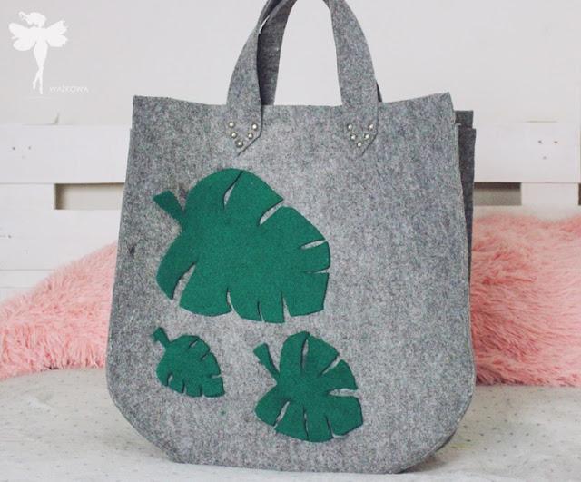 Filcowa seria DIY 2: Duża liściasta torba (bez szycia)