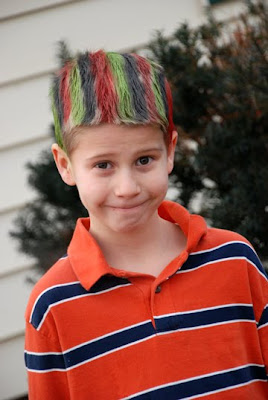 crazy hair day with stripes