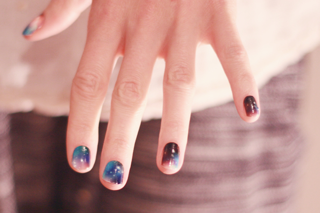 A Galaxy On My Nails With NCLA Nail Wraps