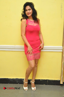 Telugu Actress Vijaya Murthy Stills in Red Short Dress at Www.Meena Bazaar Movie Opening  0095.JPG