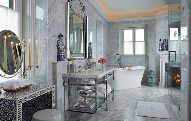 7 Faucet Finishes For Fabulous Bathrooms: Ana Antunes: Glamorous Bathrooms - Casas De