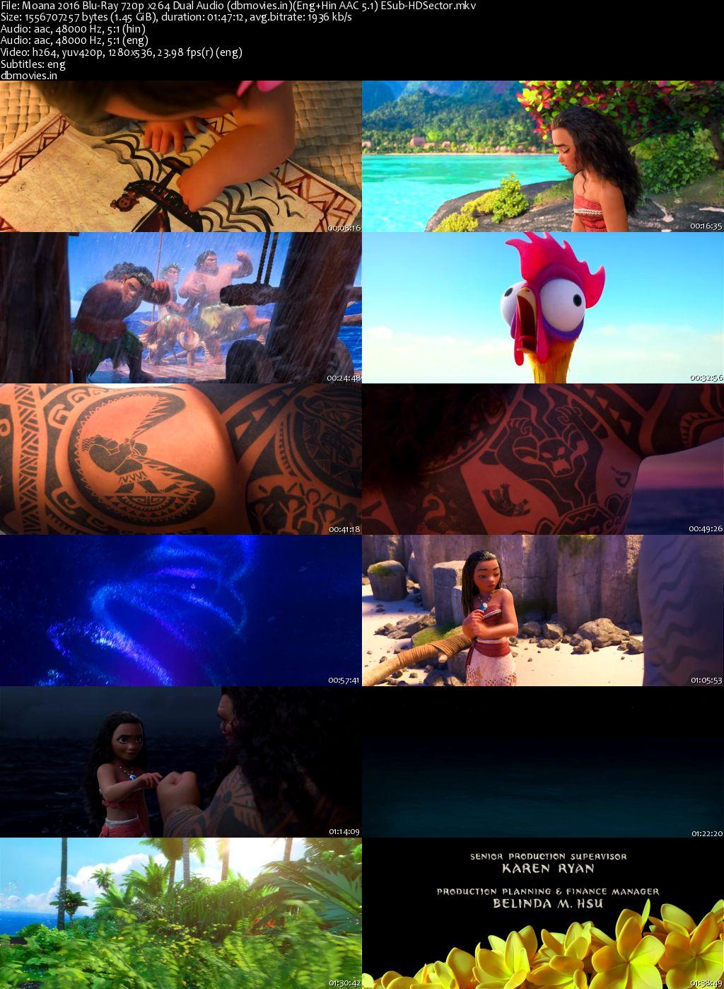 screen shot Moana 2016 Full Movie Download Dual Audio 720p