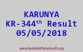 KARUNYA Lottery KR 344 Result 05-05-2018