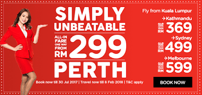 AirAsia Malaysia Flight Ticket Sale Discount Offer Promo